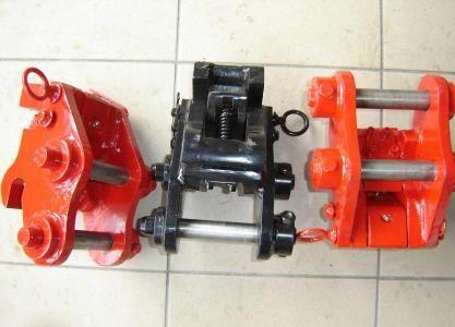 SZYBKOZŁĄCZA mechaniczne i hydrauliczne do koparek, kop-ład, mini koparek